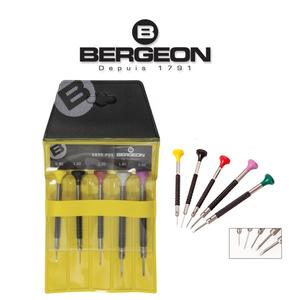 Bergeon 6899 P05 комплект часовникарски ергономични отвертки 5 броя
